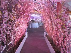 Cherry Blossom #Wedding Decor from Greenscape Design & Decor  http://www.greenscapedecor.com/blog/cherry-blossom-wedding-villa-amato-march-2013/