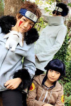 Kiba, Shino and Hinata cosplay. This is simply amazing.