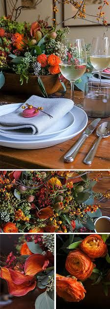 Beautiful Thanksgiving table decor. Go ahead...get inspired!
