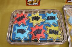 Cookies from a Super Hero Party #superhero #cookies