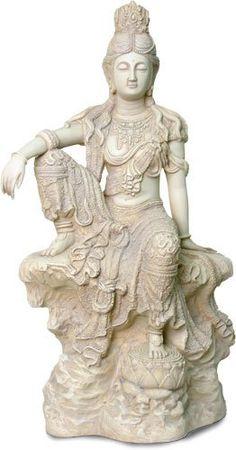 Royal Ease Kuan Yin, Stone Finish, Large