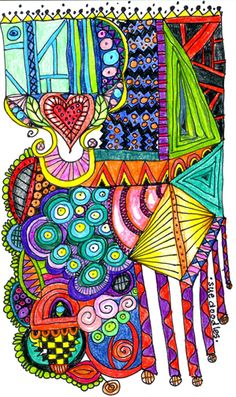 undefined    - #DRAW #ZENTANGLE #ZENDALA #TANGLE #DOODLE #COLOR #COLOUR #FARBE