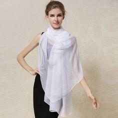 Women 100% Natural Silk Scarf Shawl Female Pure Silk Scarves Wraps Thin models Plus Size Shawls Long Beach Cover-ups 180*110cm