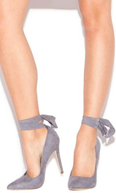 Love these slate blue heels!