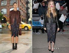 Amanda Seyfried In Givenchy & J Brand – The Daily Show with Jon Stewart