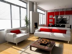 Modern contemporary living room design