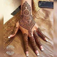 Henna Mehendi Wedding mere ideas for 2019 - Henna tatoeage hand - . Mehandi Designs, Mehndi Designs Book, Mehndi Design Pictures, Unique Mehndi Designs, Wedding Mehndi Designs, Beautiful Henna Designs, Arabic Mehndi Designs, Mehndi Patterns, Simple Mehndi Designs