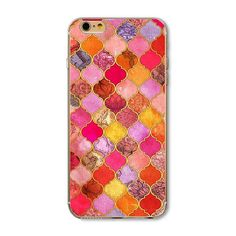 6/6S Hard Plastic Phone Cover Cases For Apple iPhone 6 6S Case Shell Pouch Painted With Flower Pattern Coated With Gourd