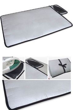 Portable Ironing Mat With Iron Rest: Iron Clothes Anywhere! A Fold-able Mat With Integrated Silicone Resting Pad.