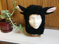 Black Sheep Hat Adult Costume Sheep Costume by YabblesHats on Etsy Black Sheep Hat Adult Costume Sheep Costume by YabblesHats on Etsy Popular Halloween Costumes, Halloween Hats, Halloween Costume Contest, Halloween Crochet, Halloween 2019, Kids Sheep Costume, Sheep Costumes, Nativity Costumes, Lamb Costume