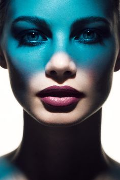Teal makeup and beauty ad shoot for cosmetic products. Lindsay Adler  Photography.