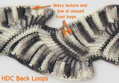 How to crochet a half double crochet through the back loop only fabric.