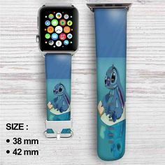 Disney Stitch Custom Apple Watch Band Leather Strap Wrist Band Replacement 38mm 42mm Apple Watch 38, Apple Watch Models, Custom Apple Watch Bands, Apple Band, Army Watches, Apple Watch Accessories, Leather Wristbands, Leather Watch Bands, Vintage Watches