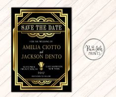 gatsby save the date gatsby invitation art deco wedding art deco save the - Gatsby Party Invitation