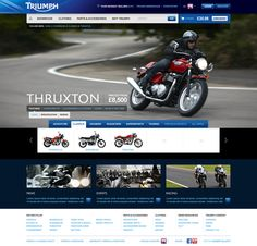Triumph were thinking about completely changing the architecture of their current website, but wanted a few different ideas as to how this could work and what this meant for the content and navigation.As part of this we put together a series of experime… Web Design, Creative Design, Web Inspiration, Triumph Motorcycles, Creative Thinking, Graphic, Touring, Adventure, Motorbike Clothing