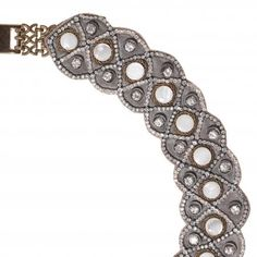 Jewellery we love!  www.silvertownart.com  Ranjana Khan necklace with jade and crystals (thomaslain.com).