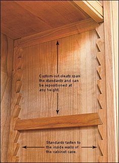 Sawtooth Shelf System - Lee Valley Tools, very nice adjustable shelving Shelf System, Woodworking Tips, Popular Woodworking, Woodworking Workbench, Woodworking Furniture, Workbench Ideas, Custom Woodworking, Garage Workbench, Woodworking Equipment