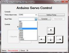 Arduino Servo Control With C# App Hobby Electronics, Cool Electronics, Electronics Projects, Arduino Pdf, Arduino Motor, Prototype Board, Sony Led, Arduino Programming, Linux