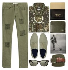 """..shouldn`t talk about it"" by grozdana-v ❤ liked on Polyvore featuring Off-White, Dolce&Gabbana, Alberto Guardiani, Vivienne Westwood, Tom Ford, Saddlebred, Ray-Ban, men's fashion, menswear and MensFashion"