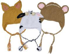 tutorial de estos gorritos con orejas de animalitos para bebés y niños!