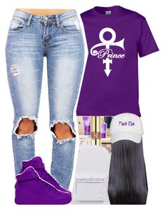 """purple rain "" by yeauxbriana ❤ liked on Polyvore featuring Herschel Supply Co. and NIKE"
