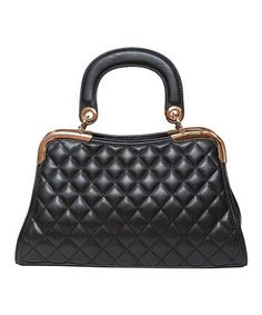 Look at this #zulilyfind! Elise Hope Black Charlotte Quilted Satchel by Elise Hope #zulilyfinds