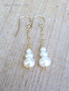 Real Pearl Earrings, Bead Earrings, Bridal Earrings, Bridal Jewelry, Earrings Online, Pendant Necklace, Chandelier Earrings, Wire Jewelry, Jewelry Gifts