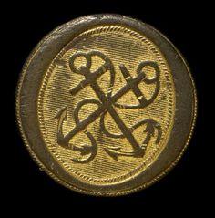 ca. 1807-12 Purser Button. British Royal Navy.