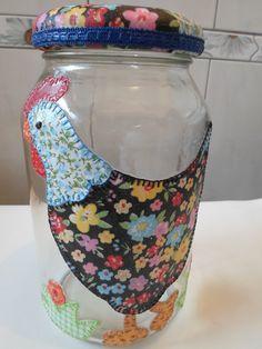 decoupage em vidros com tecido - Pesquisa Google
