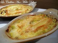 Leek gratin with reblochon . Potato Recipes, My Recipes, Diet Recipes, Cooking Recipes, Favorite Recipes, French Recipes, Quiches, My Best Recipe, Fruits And Veggies