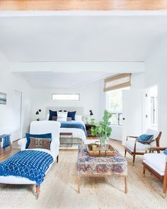 Room of the Day: Layers of Exotic Textiles Enrich a White Room