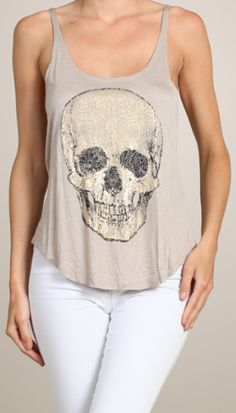 Breezy Skull Tank: Fuck That Girly Shit