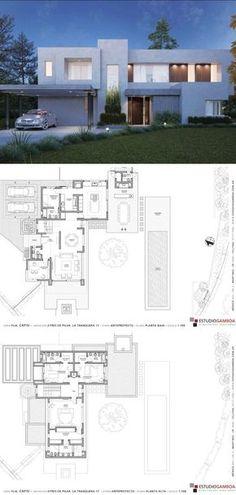 Architectural Plants, Architectural House Plans, House Layout Plans, House Layouts, Best House Plans, House Floor Plans, Minimal House Design, House Blueprints, Sims House