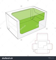 Toy Box Window With Die Cut Pattern Stock Vector Illustration 191034791 : Shutterstock
