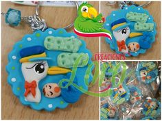 """#Babyshower in polymer clay   Follow us and like """" Creaciones Loro """"   Or contact us directly  Http://m.me/creacionesloro"""