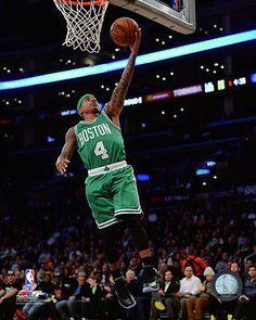 Isaiah Thomas Boston Celtics 2014-2015 NBA Action Photo RU145 (Select Size)