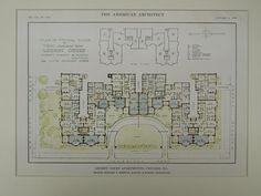 Lochby Court Apartments, Chicago, IL, 1916, Original Plan. Schmidt, Garden & Martin.