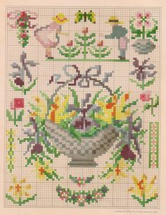 As promised, here are some terrific vintage cross stitch patterns free for your use -- enjoy!  These patterns came from my vintage pattern ...