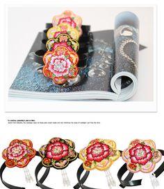 HANBOK Flower daenggi Girl Hairband Korean traditional clothes pigtail dress #FairyCloset #Hanbokhairband