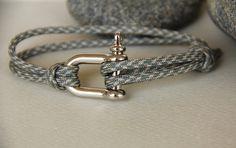 bracelet homme MANILLE cordon parachutiste ajustable