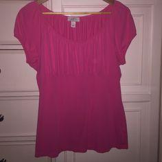 Loft empire waist T-shirt Pretty pink loft size large T-shirt LOFT Tops Tees - Short Sleeve