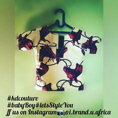 A simple ankara shirt for a baby boy. Made by @i.brand.u.africa on Instagram.