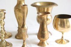 Brass Vases & Candleholders