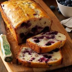 Lemon Blueberry Bread Recipe from Taste of Home -- shared by Julianne Johnson of Grove City, Minnesoat