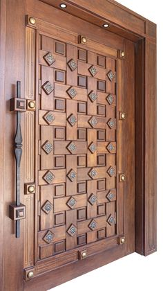 What an incredible entry door from Art Boulle. House Main Door Design, Wooden Front Door Design, Home Door Design, Main Entrance Door Design, Pooja Room Door Design, Door Gate Design, Door Design Interior, Wooden Front Doors, The Doors