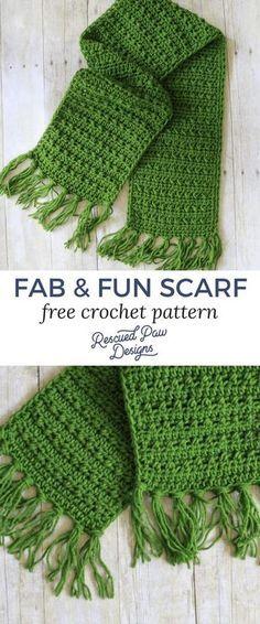Crochet Ribbed Scarf Pattern By Jenn Ozkan Pinterest Ravelry