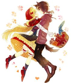 Cute. Little Red Riding Hood and the Wolf