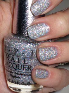 Nail art Christmas - the festive spirit on the nails. Over 70 creative ideas and tutorials - My Nails Sparkle Nails, Glitter Nail Polish, Opi Nail Polish, Nail Polish Designs, Nail Polish Colors, Nail Manicure, Nail Art Designs, Silver Sparkly Nails, Hot Nails