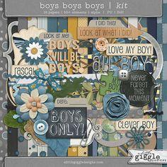 {Boys Boys Boys} Kit  |  A Little Giggle Designs