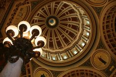 Rotunda in the State Capitol building of Harrisburg, PA